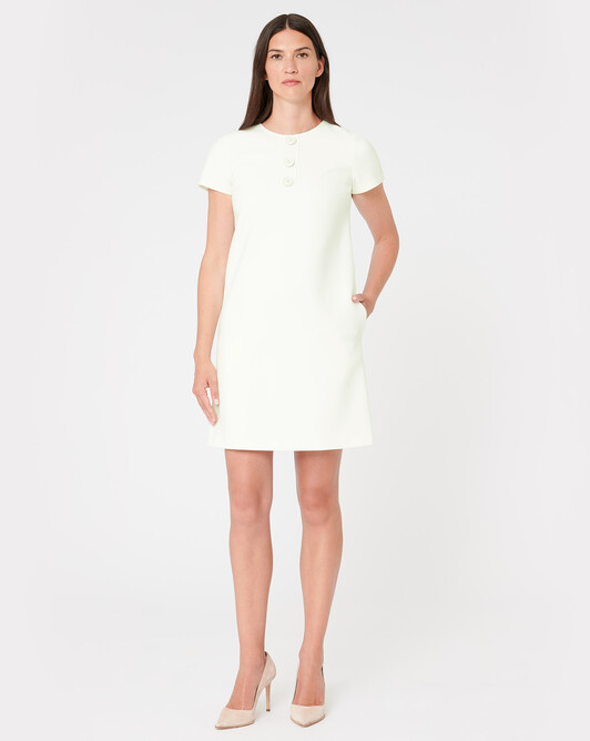 Robe en tricotine stretch - Off white