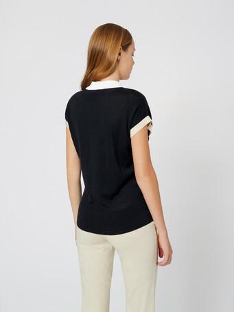Silk and cotton sweater - Noir