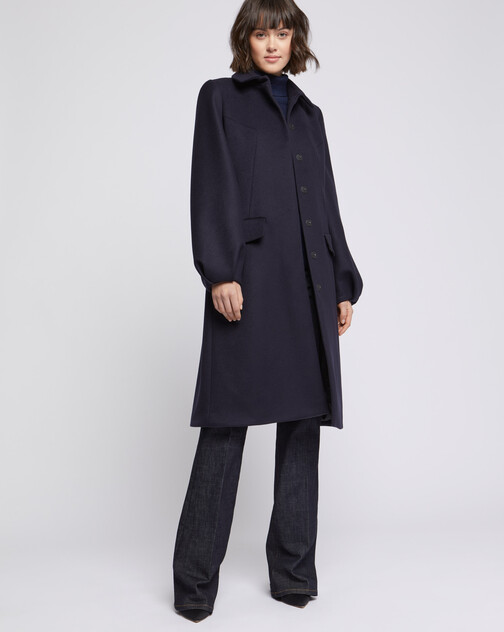 Long wool and cashmere coat