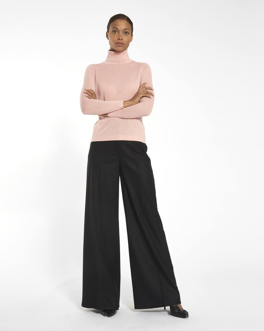 Woolcloth trousers - black