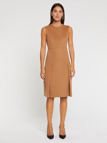 Shift wool-blend dress - Camel