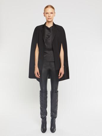 Manteau en crêpe envers satin - Noir
