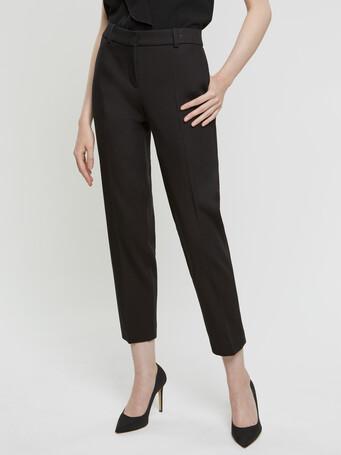 Skinny couture cotton pants - Noir