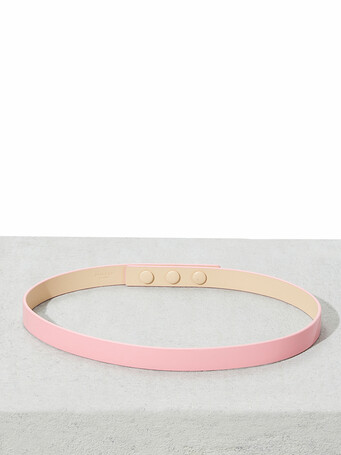 Patent-leather belt - Bubble gum