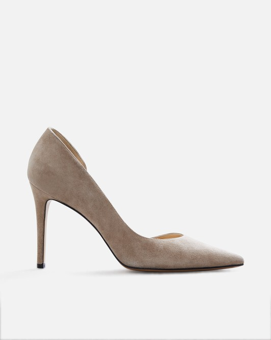 Suede leather pumps - Beige