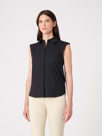 Cotton poplin shirt - Noir