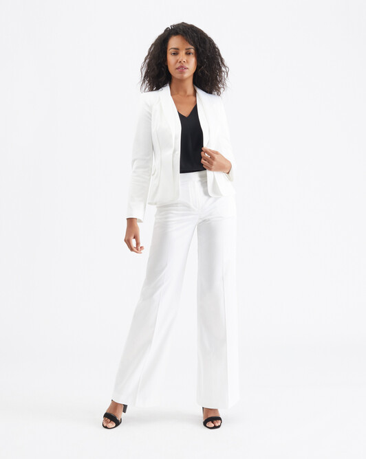 Satin-poplin jacket - White