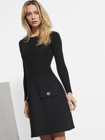 Robe en tricotine stretch - Noir