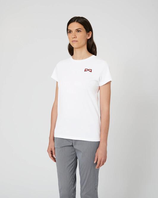 Haut en jersey de coton - Blanc