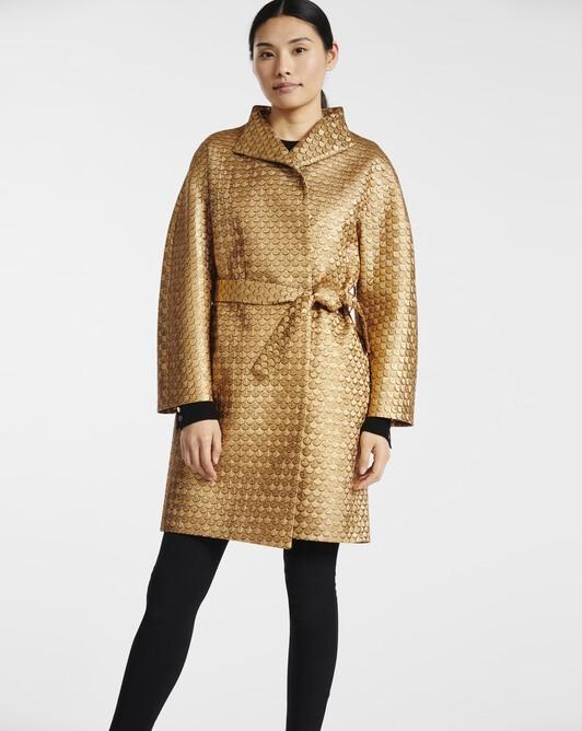 Scaled-jacquard coat - Or