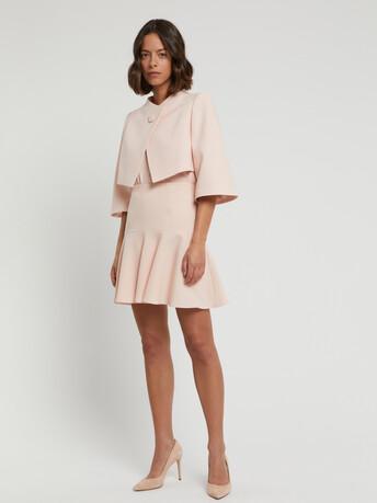 Veste habillée en crêpe envers satin - Poudre