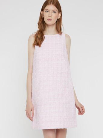 Ribbon-tweed dress - Opale