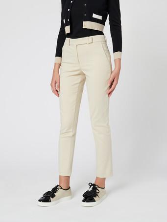 Cotton tricotine pants - Sand