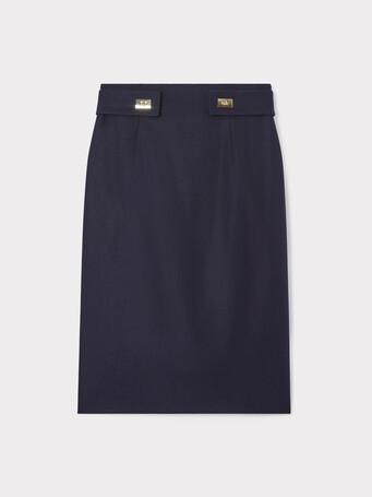 Wool skirt - Navy blue