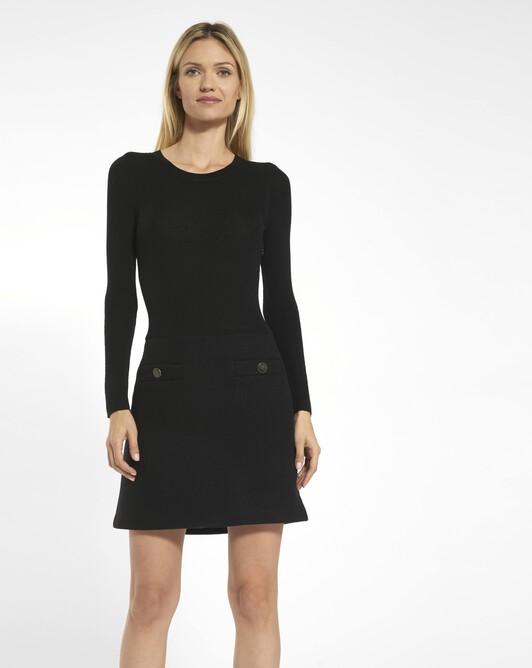 Woolcloth dress - Noir