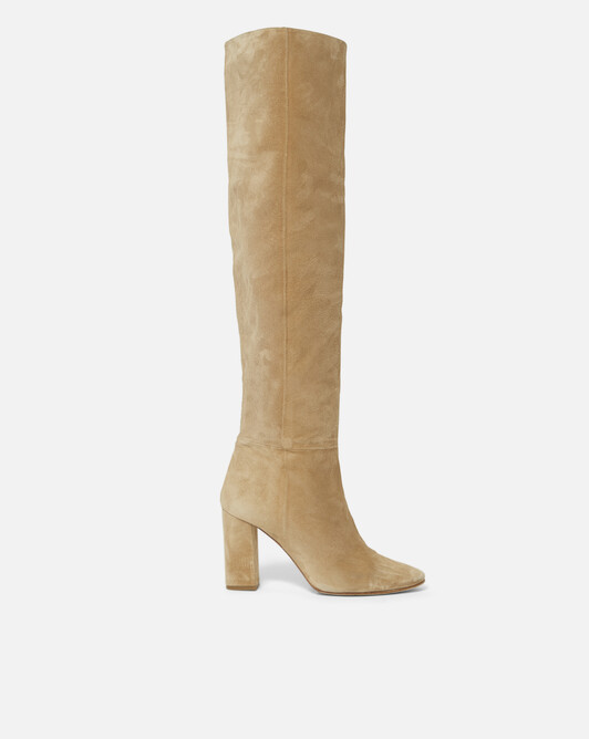 Suede boots - mastic