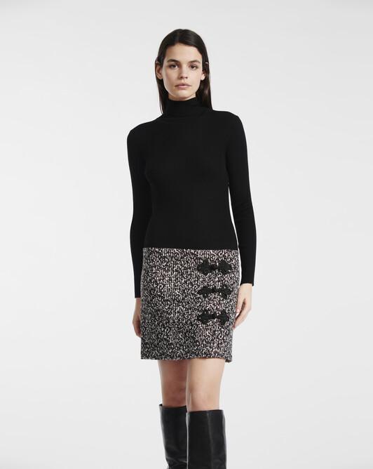 Black and white tweed dress - Black / white