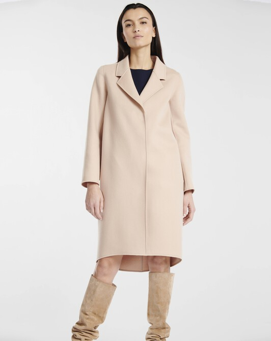Coat in double-faced wool - sand