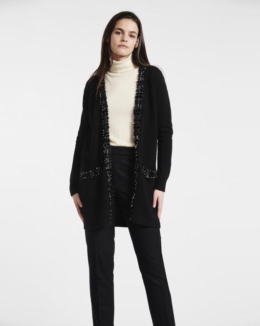 Cashmere wool cardigan - Noir
