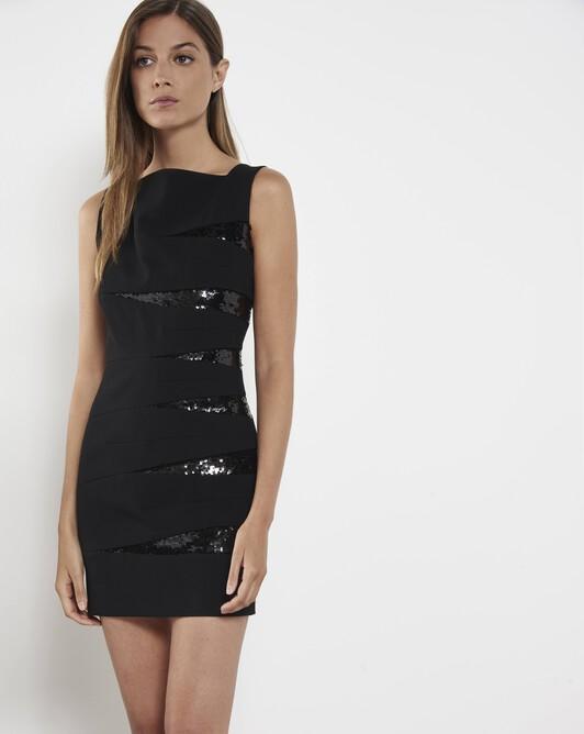 Black glittery dress - Noir
