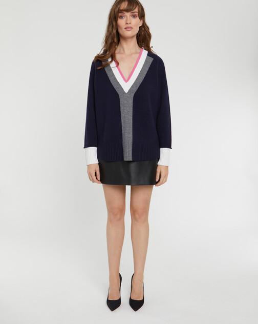 Pull large en laine et cachemire