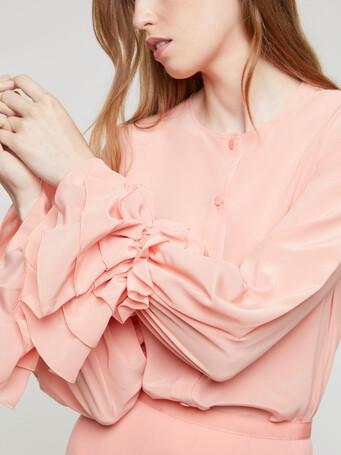 Crepe de chine shirt - Eau de rose