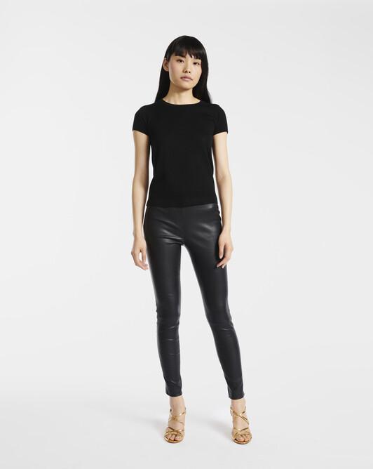 Pantalon en cuir - Noir