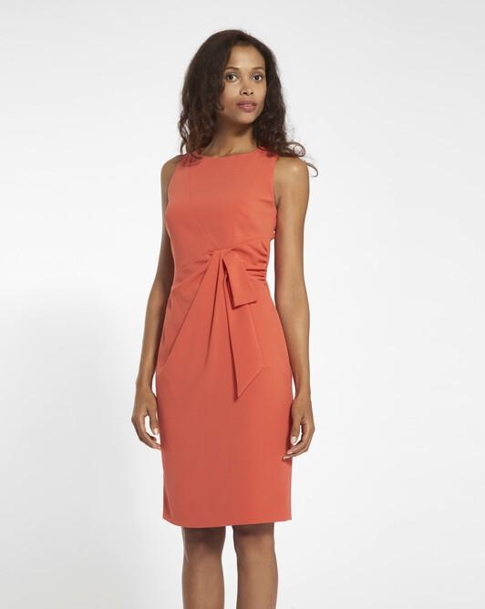 Satin-back crepe dress - Pasteque