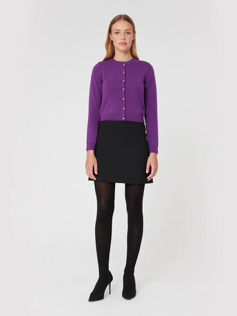 Wool and cashmere cardigan - Amethyste