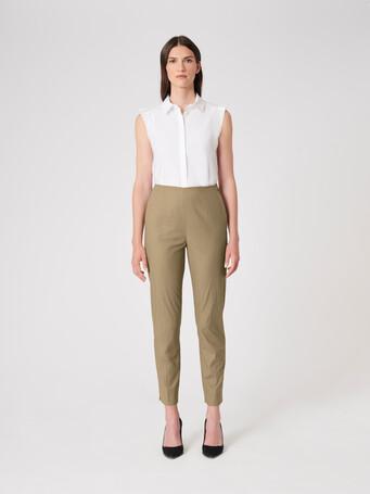 Cotton poplin pants - Taupe