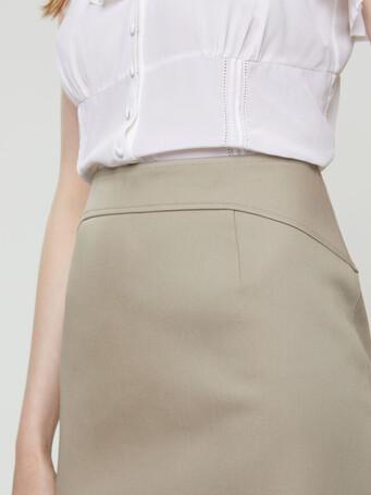 Jupe en coton couture - Taupe