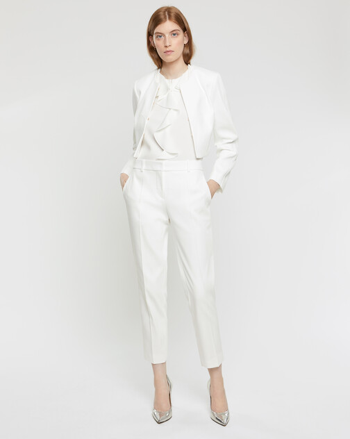 Cotton couture cropped jacket