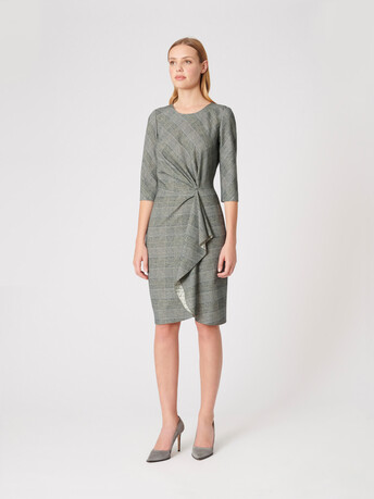 Flannel dress - Noir / blanc casse