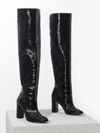Vinyl boots - Noir