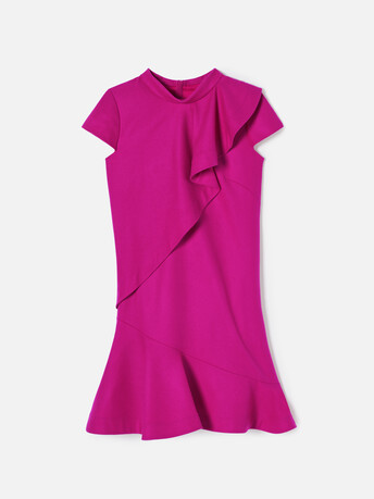 Robe en drap de laine - Fuchsia