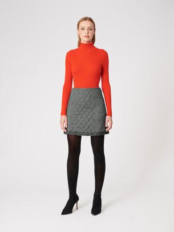 Tweed skirt - Noir