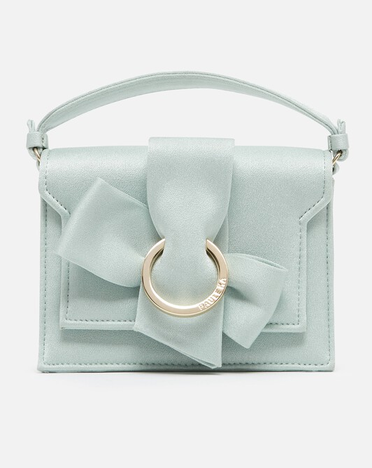 Satin-back crepe bag - Amande