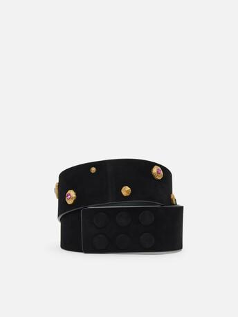 Suede belt - Noir