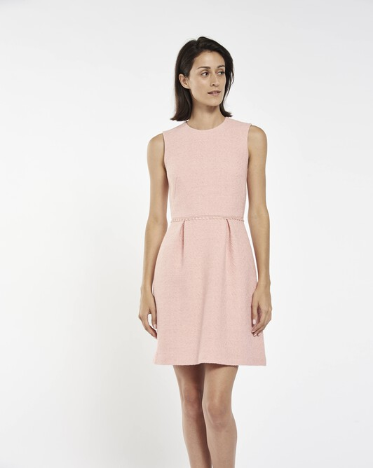 Herringbone dress - light pink