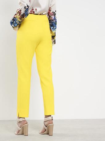 Pantalon en piqué de coton - Citron