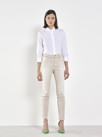 Putty denim trousers - Mastic