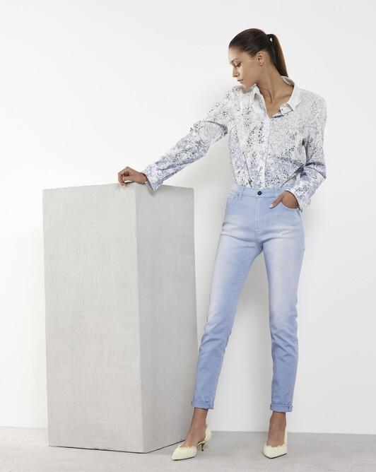 Pantalon en denim - Aqua