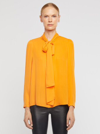 Stretch-charmeuse blouse - Mangue