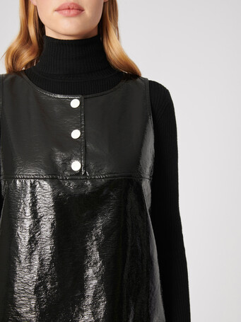 Robe en vinyle - Noir