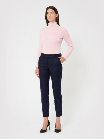 Wool pants - Navy blue