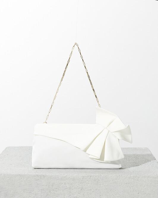 Pochette en ottoman stretch - Blanc casse