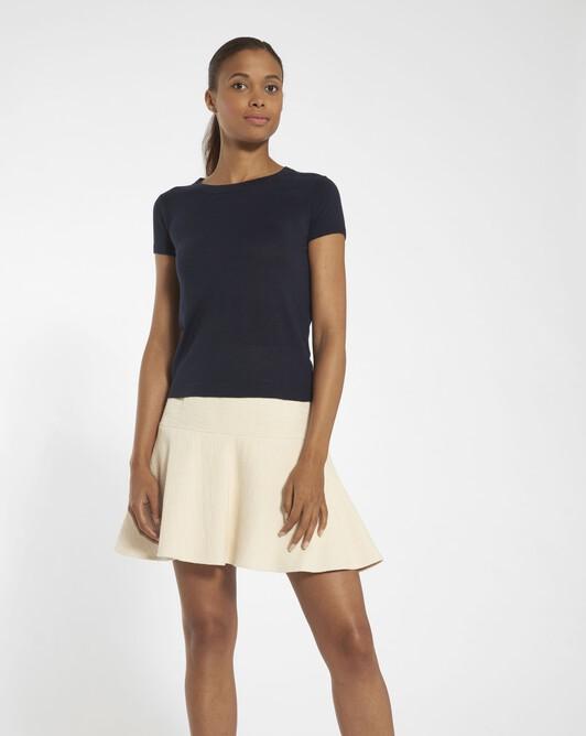 Cashmere silk sweater - navy blue