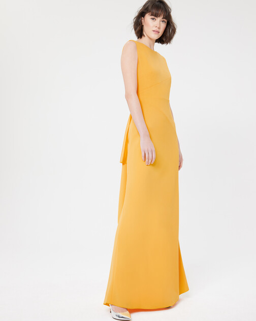 Satin-back crepe gown