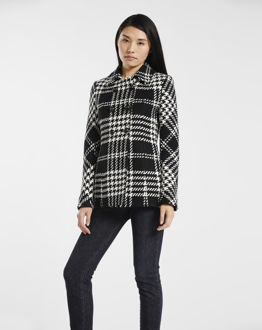 Coat in Prince of Wales check - Black / white