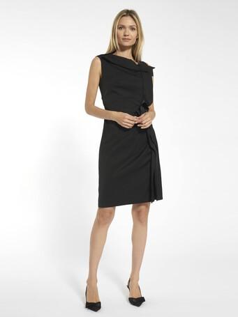 Stretch ottoman dress - Noir